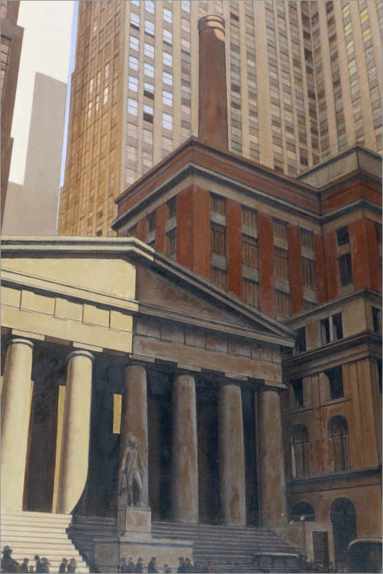 Premium-Poster Federal Hall, Wall Street