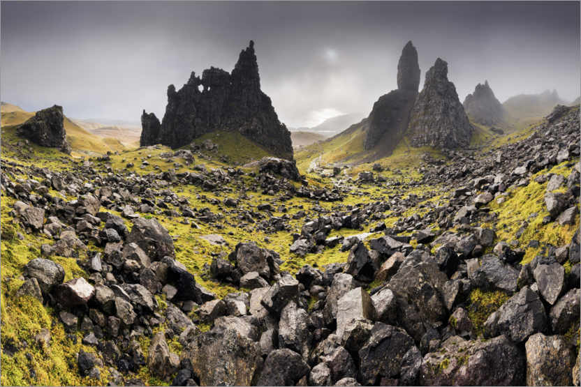 Premium-Poster The Old Man of Storr im Herbst