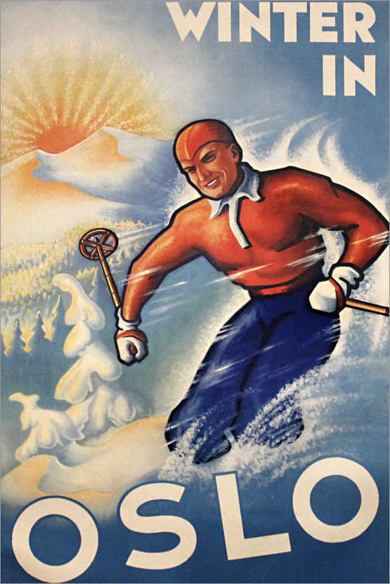 Premium-Poster Winter in Oslo