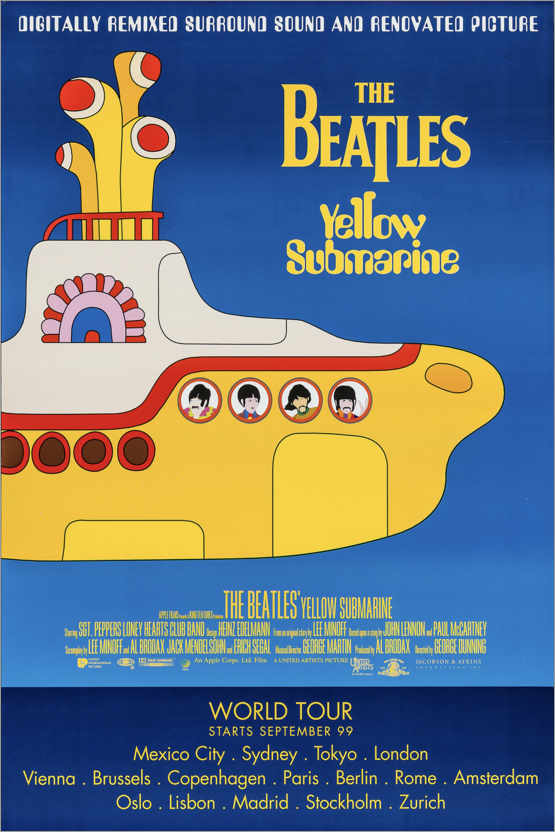 Premium-Poster The Beatles – Yellow Submarine