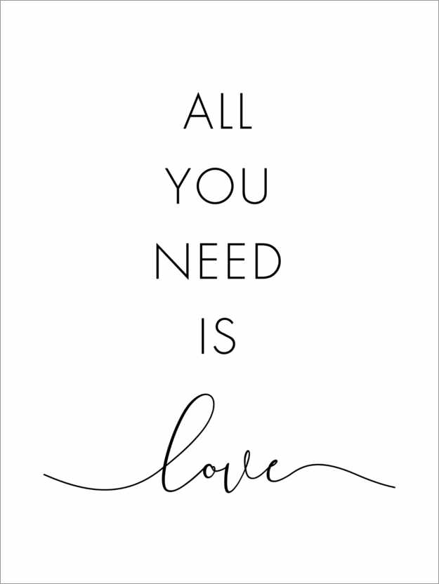 Premium-Poster All you need is love