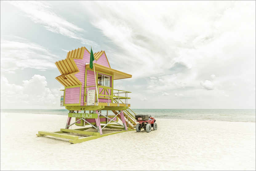 Premium-Poster Miami Beach Florida Flair