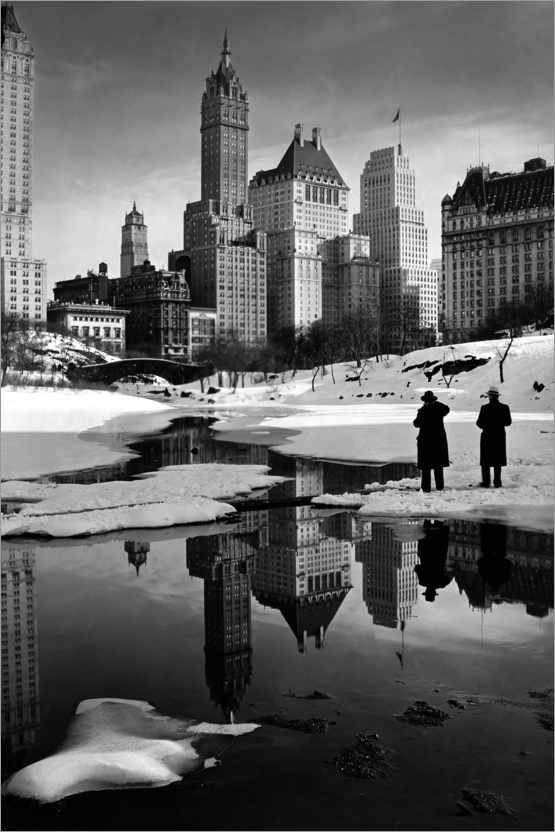 Premium-Poster Winter im Central Park 1933