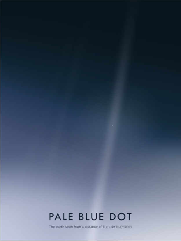 Premium-Poster Pale Blue Dot
