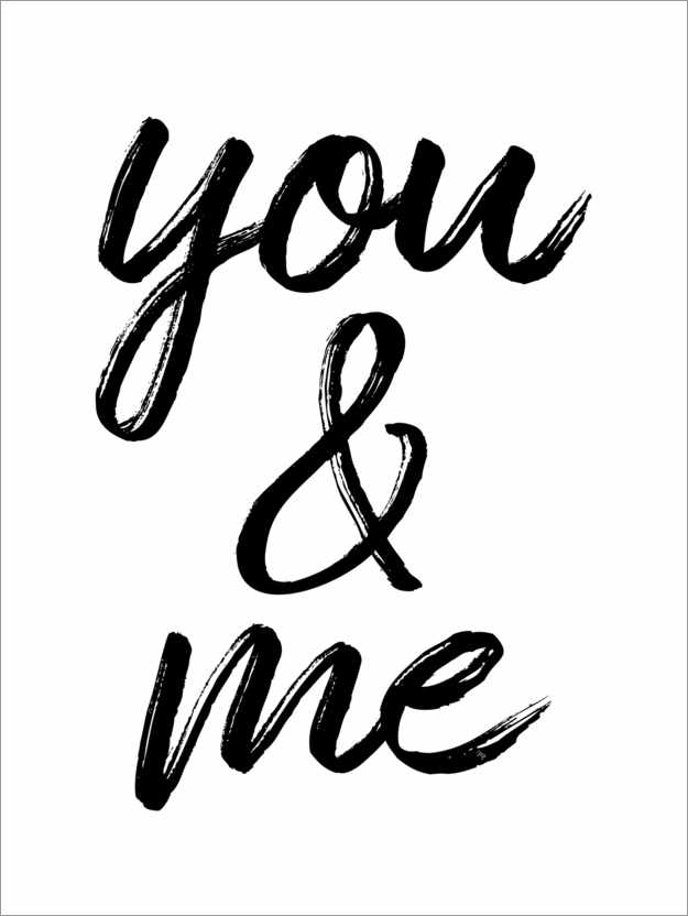 Premium-Poster You and me