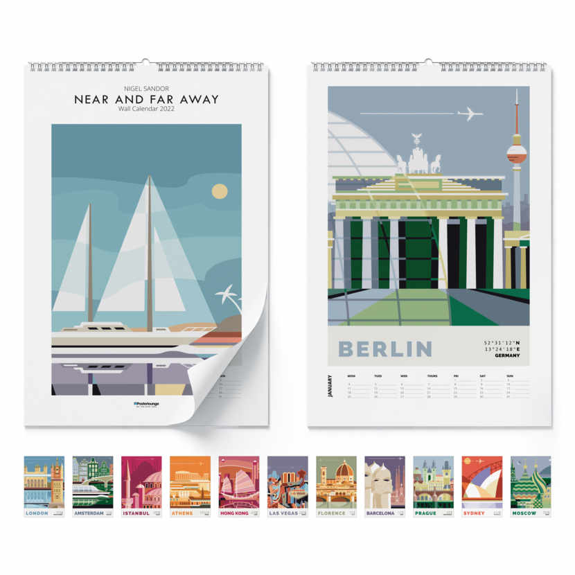 Wandkalender Near and far away 2021