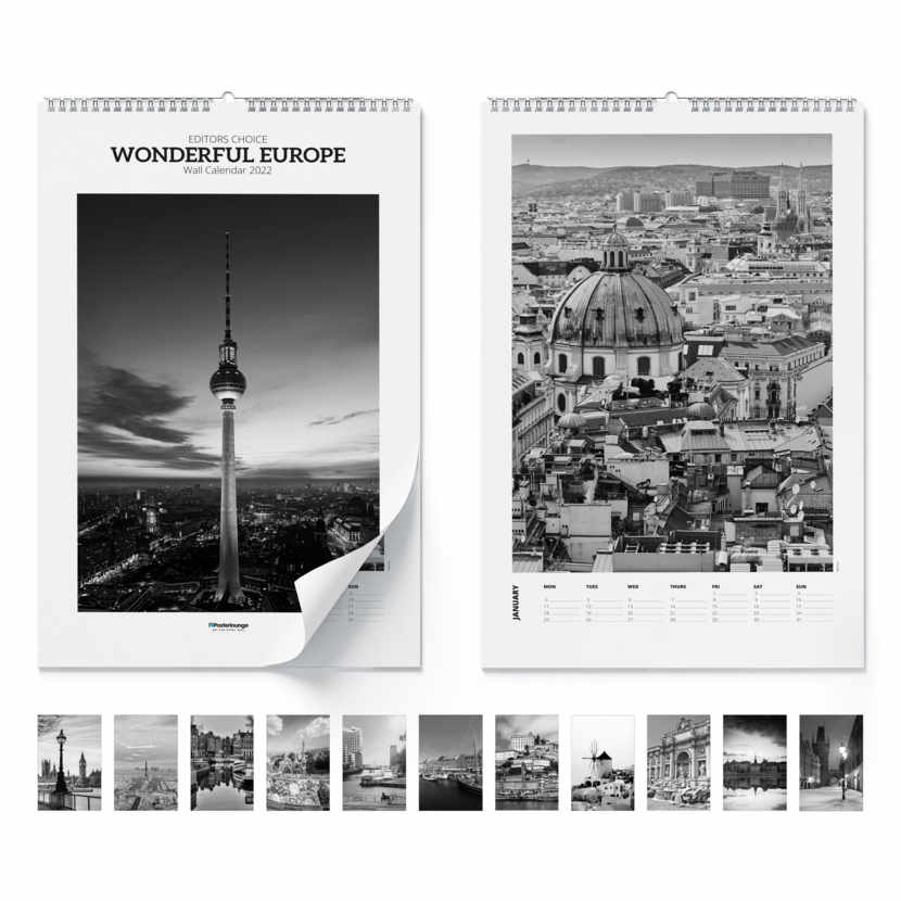 Wandkalender Wonderful europe 2021