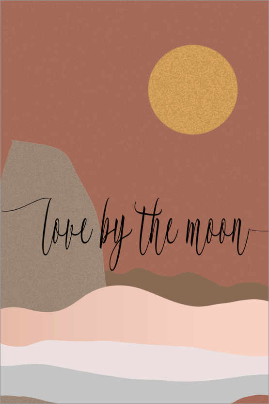 Premium-Poster Love by the moon
