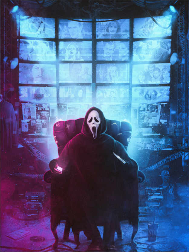 Premium-Poster Ghostface Scream