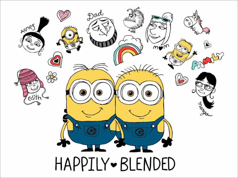 Premium-Poster Despicable Me 3 - Happily Blended