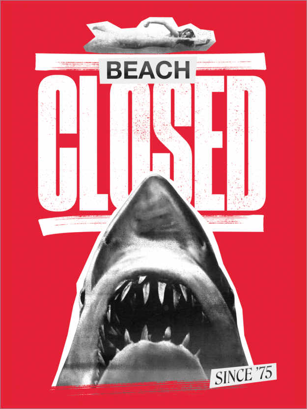 Premium-Poster Beach closed since 1975