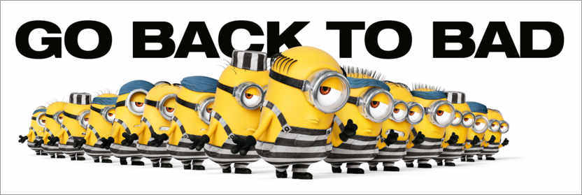 Premium-Poster Minions - Back to bad