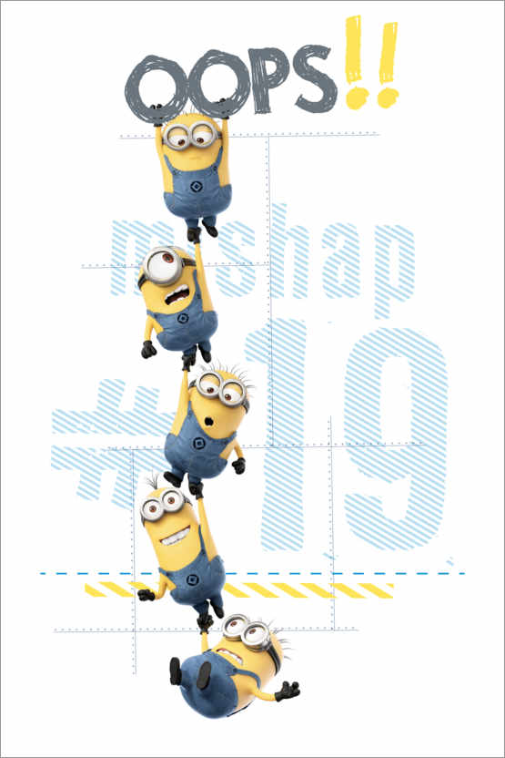 Premium-Poster Minions - Oops