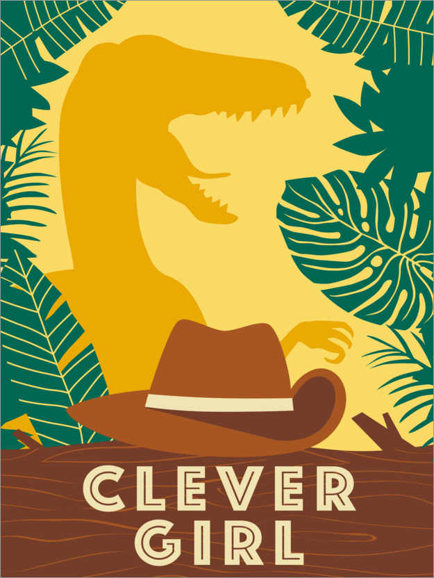 Premium-Poster Clever Girl