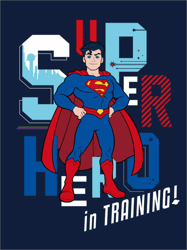 Premium-Poster Super Hero in Training