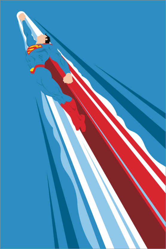 Premium-Poster Superman - Into the blue