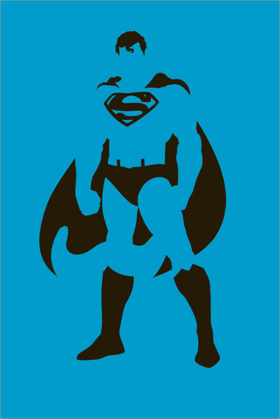 Premium-Poster Superman Minimal Design