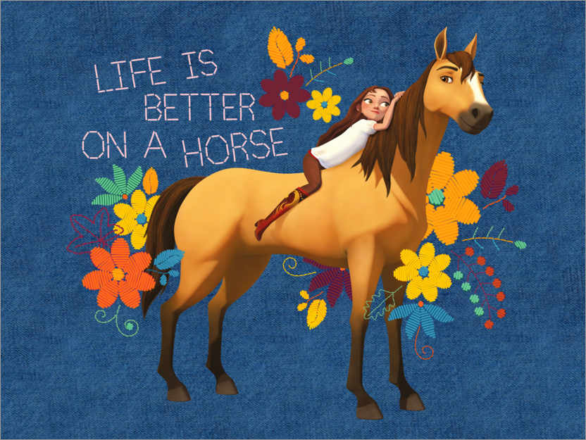 Premium-Poster Life is better on a horse