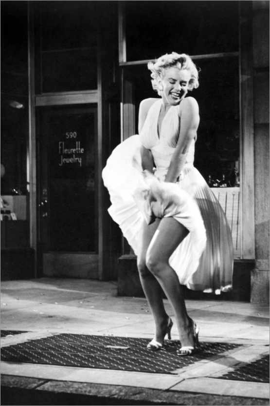 Premium-Poster Marilyn - The Seven Year Itch iconic pose
