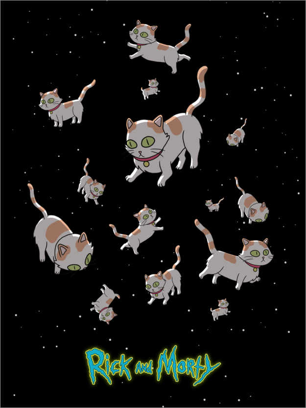 Premium-Poster Rick and Morty - Space Cats
