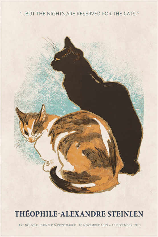 Premium-Poster Théophile-Alexandre Steinlen - Reserved for the cats