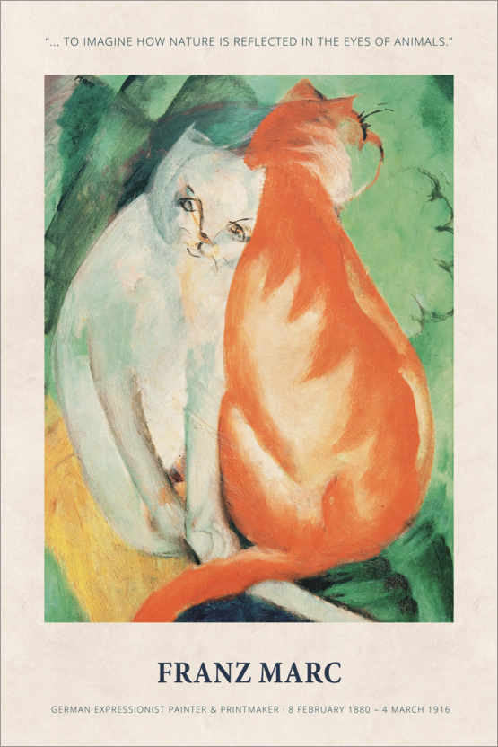 Premium-Poster Franz Marc - In the eyes of animals