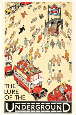 Premium-Poster  The Lure of the Underground - Alfred Leete