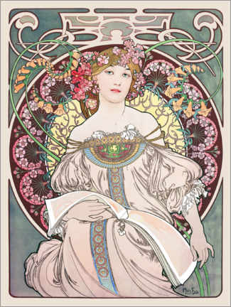 Premium-Poster  Tagtraum - Alfons Mucha
