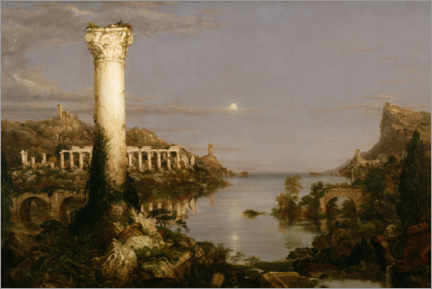 Acrylglasbild  Kurs des Reiches, Desolation - Thomas Cole