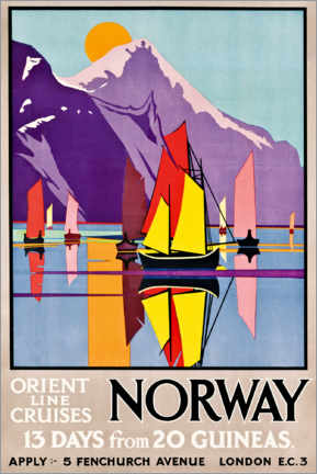Leinwandbild  Orient Line Cruises Norwegen - M.V. Jones