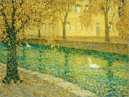 Gallery Print  Le Canal, Annecy - Henri Le Sidaner