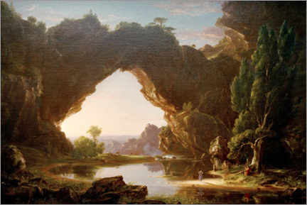 Alubild  Abend in Arcady - Thomas Cole