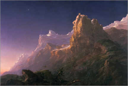 Alubild  Der gefesselte Prometheus - Thomas Cole