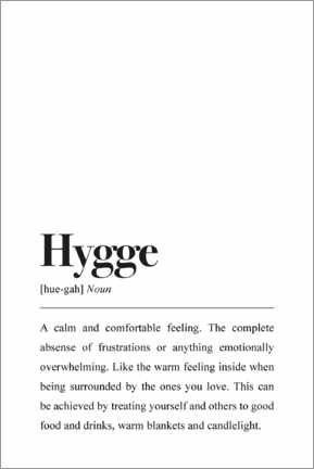 Premium-Poster  Hygge Definition (Englisch) - Pulse of Art