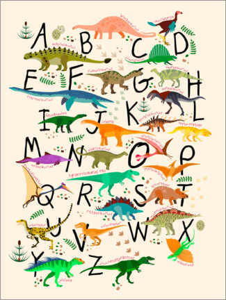 Premium-Poster  Dino-Alphabet - Kidz Collection