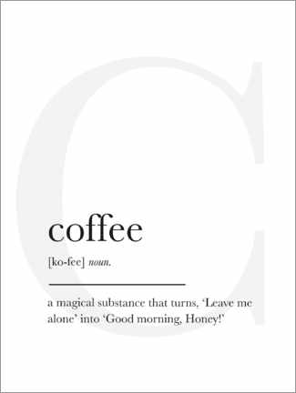 Premium-Poster Coffee Definition (Englisch)