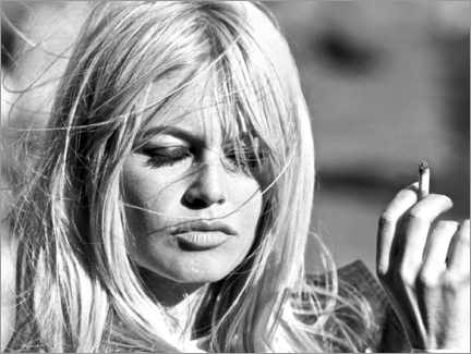 Hartschaumbild  Brigitte Bardot ? Vom Winde verweht - Celebrity Collection