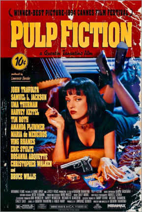 Acrylglasbild  Pulp Fiction (Englisch) - Entertainment Collection