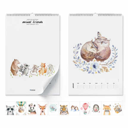 Wandkalender  Animal Friends 2020