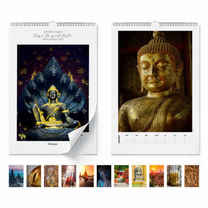 Wandkalender  Time to meditate 2020