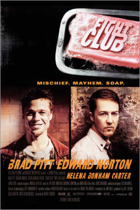 Leinwandbild  Fight Club (Englisch) - Entertainment Collection