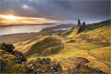Gallery Print  The Old Man of Storr bei Sonnenaufgang - The Wandering Soul