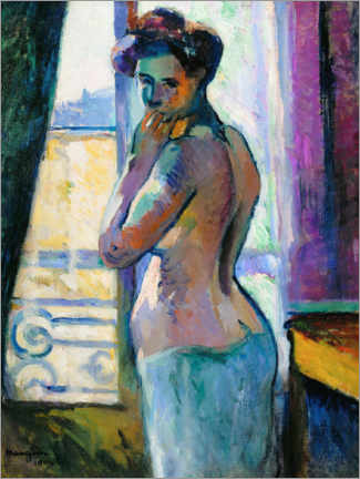 Leinwandbild  Am Fenster in der Rue Boursault - Henri Manguin