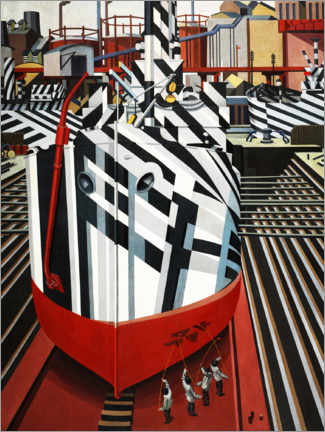 Plakat Dazzle ships in Liverpool's dry dock
