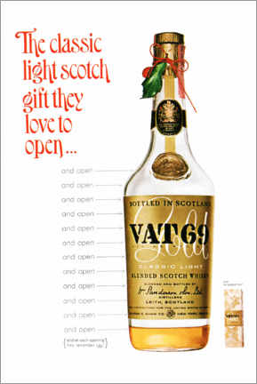 Holzbild  Vat 69 - Advertising Collection