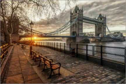 Premium-Poster Tower Bridge – Boulevard an der Themse