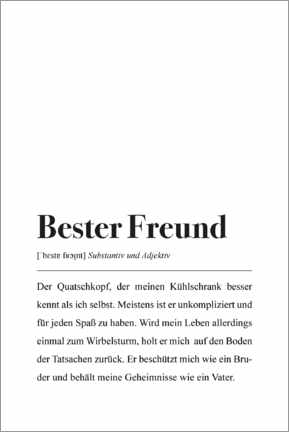 Leinwandbild  Bester Freund Definition - Pulse of Art