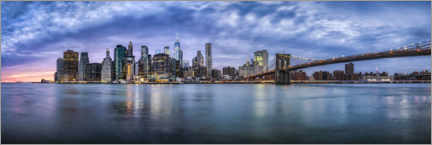 Leinwandbild  Manhattan-Skyline am Abend - Jan Christopher Becke