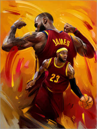 Leinwandbild  Lebron James - Dmitry Belov