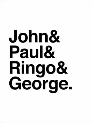 Premium-Poster The Beatles - Names